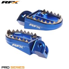 New Blue Husqvarna TE TC 125 250 300 08-14 Shark Teeth Wide Foot Pegs Footpegs